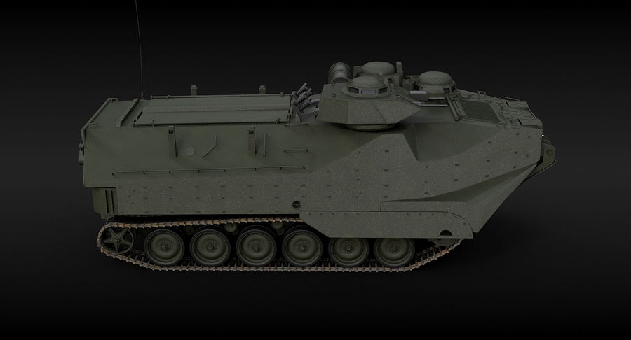 Assault Amphibious Vehicle royalty-free 3d model - Preview no. 8