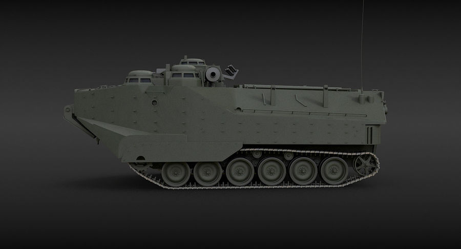 Assault Amphibious Vehicle royalty-free 3d model - Preview no. 5