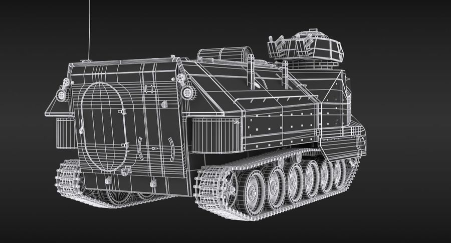 Assault Amphibious Vehicle royalty-free 3d model - Preview no. 16