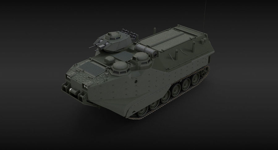 Assault Amphibious Vehicle royalty-free 3d model - Preview no. 13