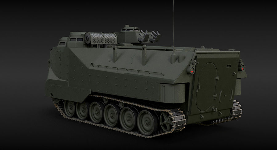Assault Amphibious Vehicle royalty-free 3d model - Preview no. 6