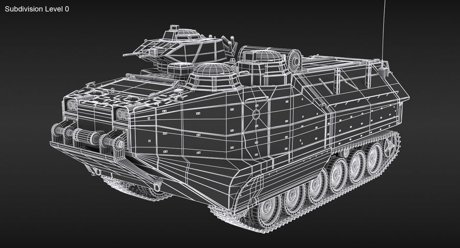Assault Amphibious Vehicle royalty-free 3d model - Preview no. 19