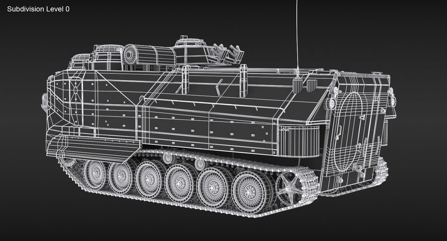 Assault Amphibious Vehicle royalty-free 3d model - Preview no. 17