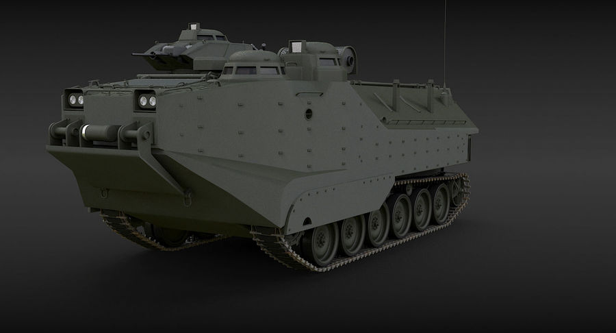 Assault Amphibious Vehicle royalty-free 3d model - Preview no. 3