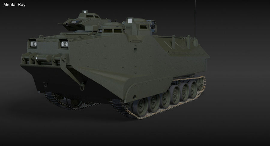 Assault Amphibious Vehicle royalty-free 3d model - Preview no. 4