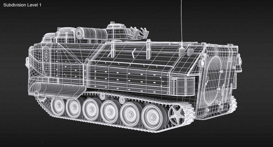 Assault Amphibious Vehicle royalty-free 3d model - Preview no. 18
