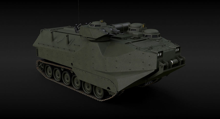 Assault Amphibious Vehicle royalty-free 3d model - Preview no. 9