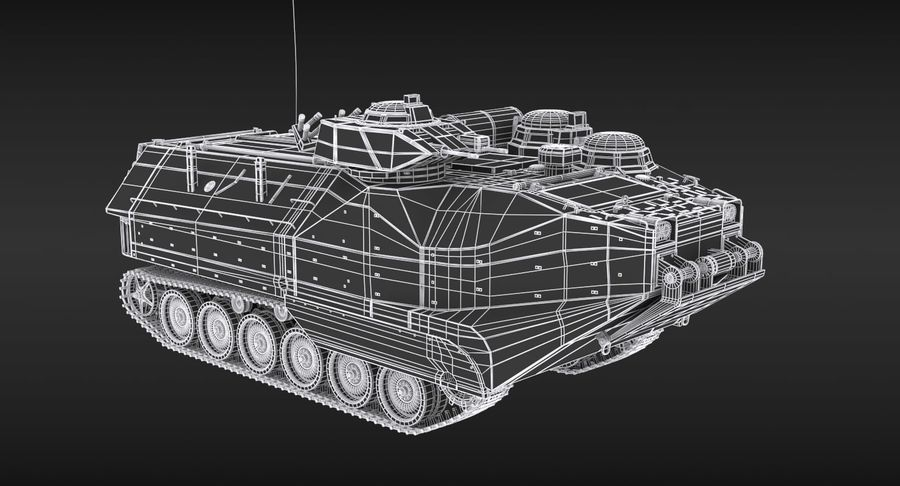 Assault Amphibious Vehicle royalty-free 3d model - Preview no. 15