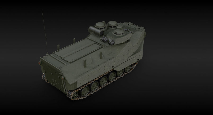 Assault Amphibious Vehicle royalty-free 3d model - Preview no. 12