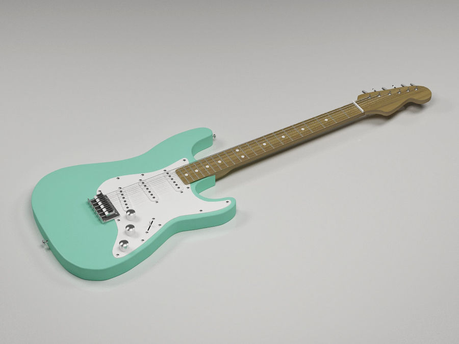 Guitarra elétrica Fender Stratocaster royalty-free 3d model - Preview no. 1