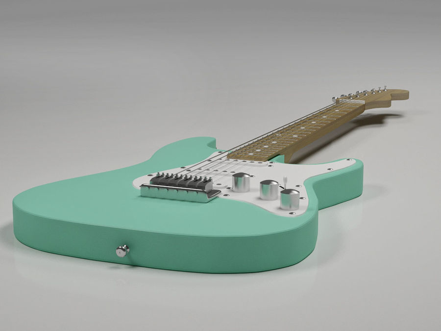 Electric guitar Fender Stratocaster royalty-free 3d model - Preview no. 3