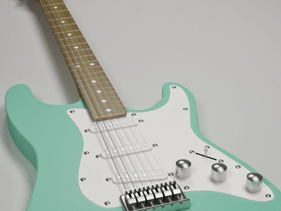 Guitarra elétrica Fender Stratocaster royalty-free 3d model - Preview no. 4