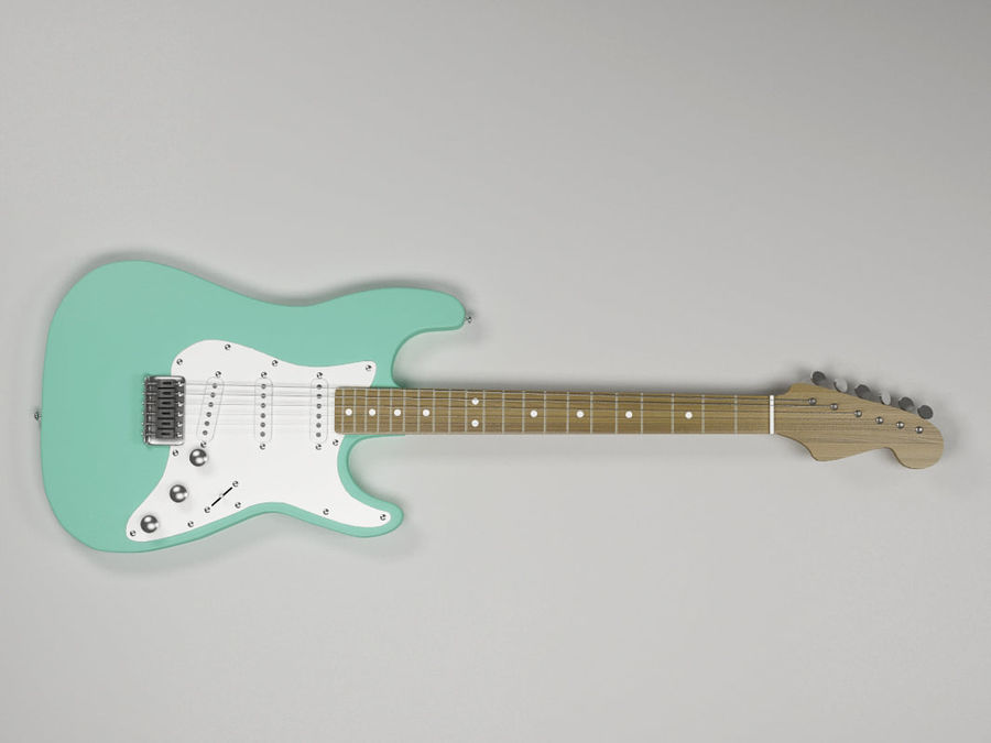 Electric guitar Fender Stratocaster royalty-free 3d model - Preview no. 2