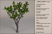 Низкополигональная фэнтезийная елка 10 3d model