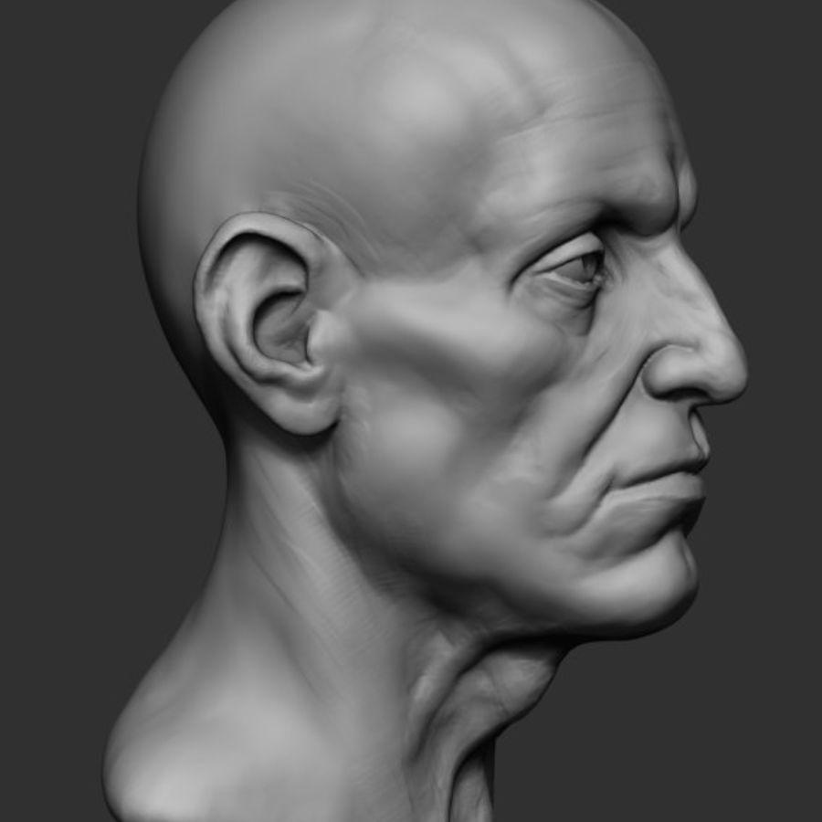 Anatomie de la base de la tête masculine royalty-free 3d model - Preview no. 3