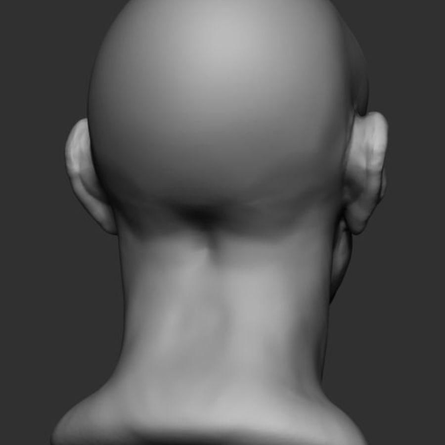 Anatomie de la base de la tête masculine royalty-free 3d model - Preview no. 4