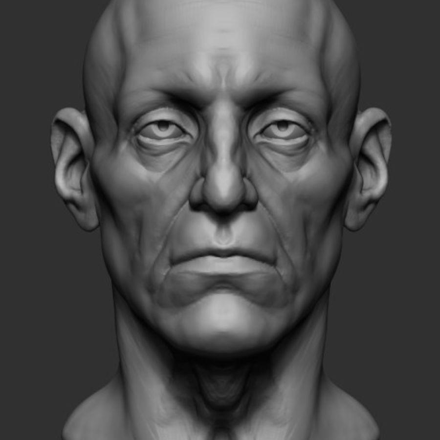 Anatomie de la base de la tête masculine royalty-free 3d model - Preview no. 2