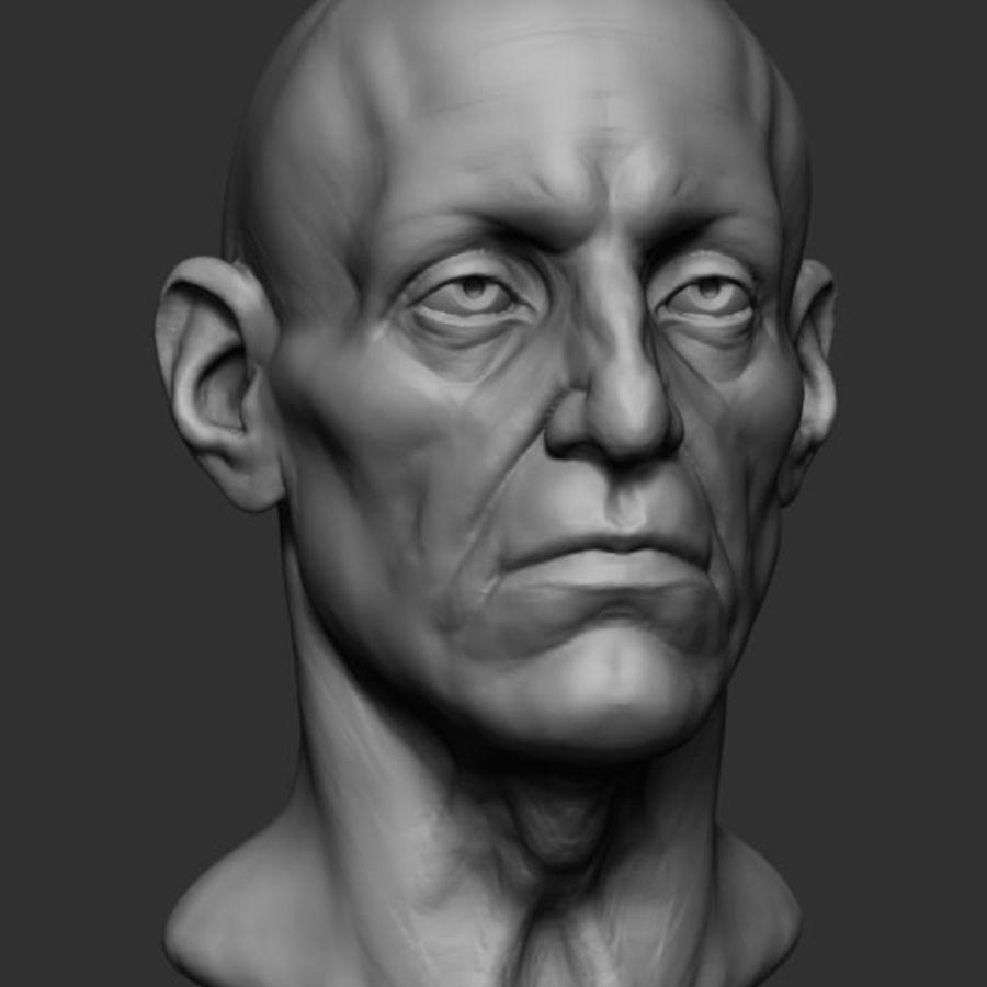 Anatomie de la base de la tête masculine royalty-free 3d model - Preview no. 1