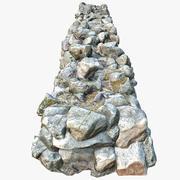 Muro di roccia 3d model