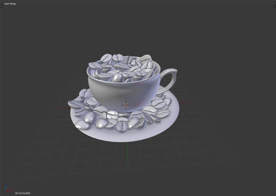 coffee bean royalty-free 3d model - Preview no. 10