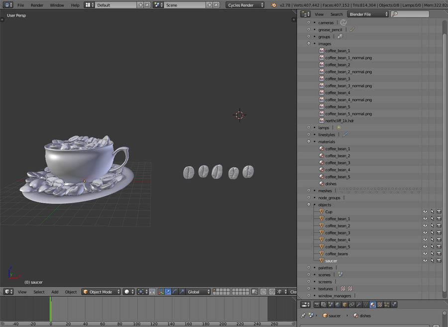 coffee bean royalty-free 3d model - Preview no. 9