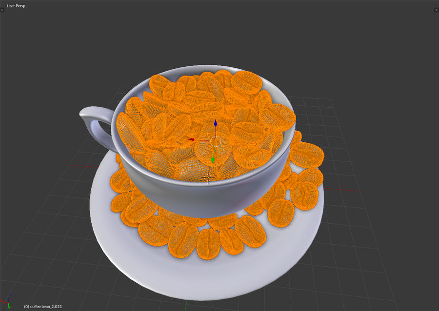 coffee bean royalty-free 3d model - Preview no. 14