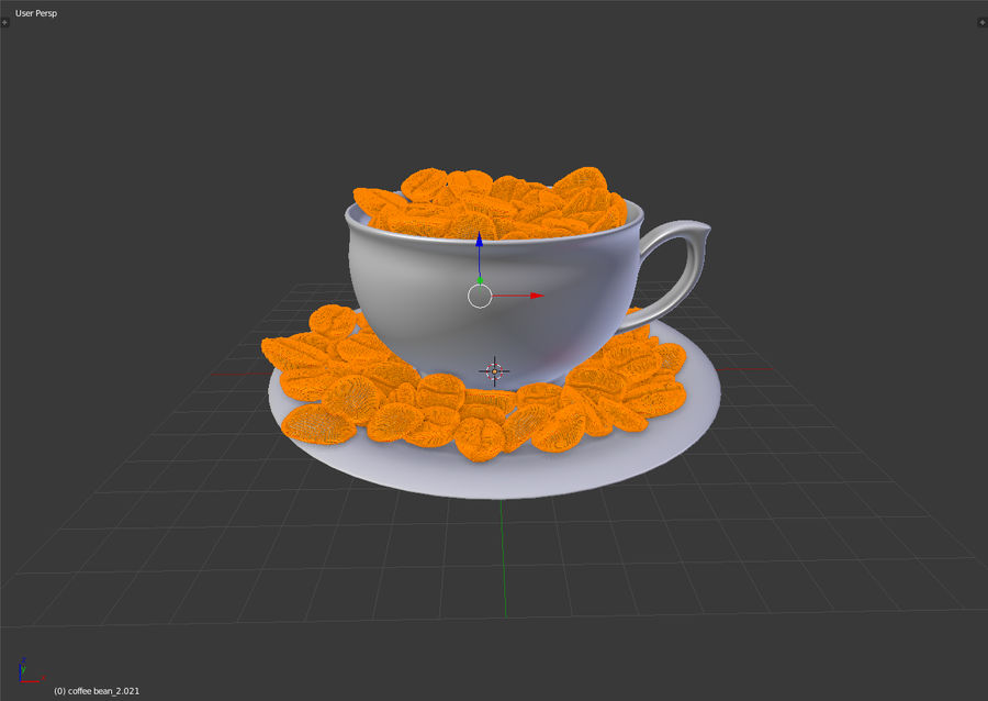 coffee bean royalty-free 3d model - Preview no. 15