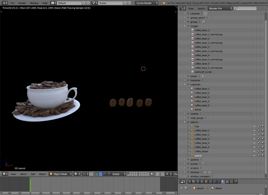 coffee bean royalty-free 3d model - Preview no. 8