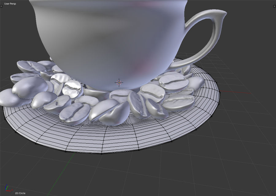 coffee bean royalty-free 3d model - Preview no. 17