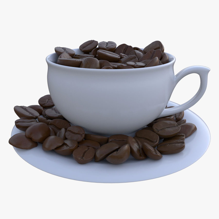coffee bean royalty-free 3d model - Preview no. 2