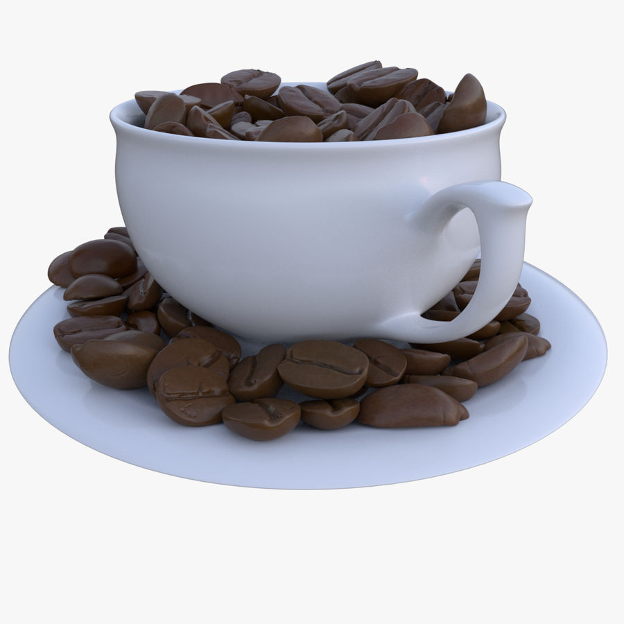 coffee bean royalty-free 3d model - Preview no. 4