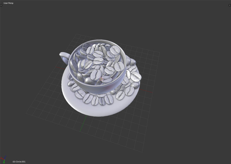 coffee bean royalty-free 3d model - Preview no. 11