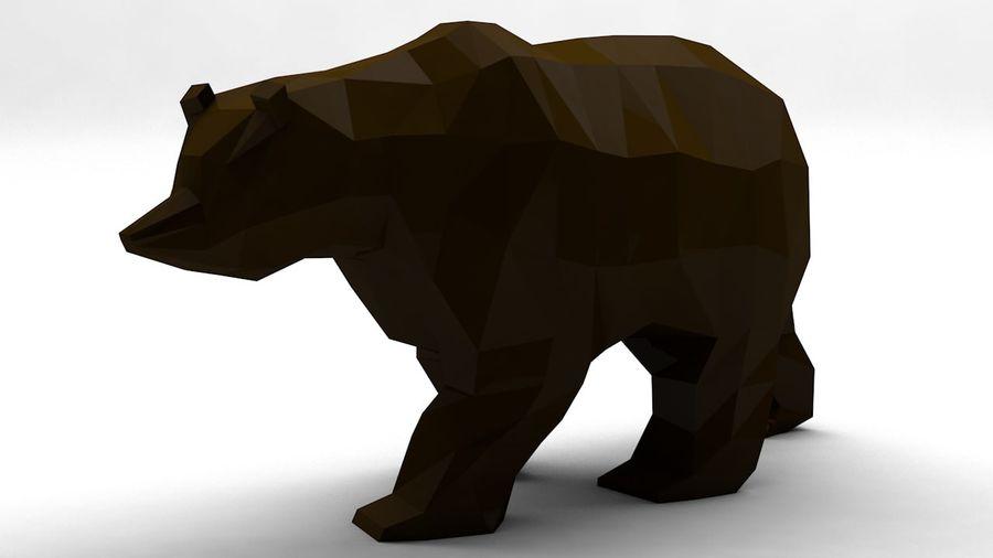 Niedźwiedź Grizzly Cartoon Low Poly royalty-free 3d model - Preview no. 4