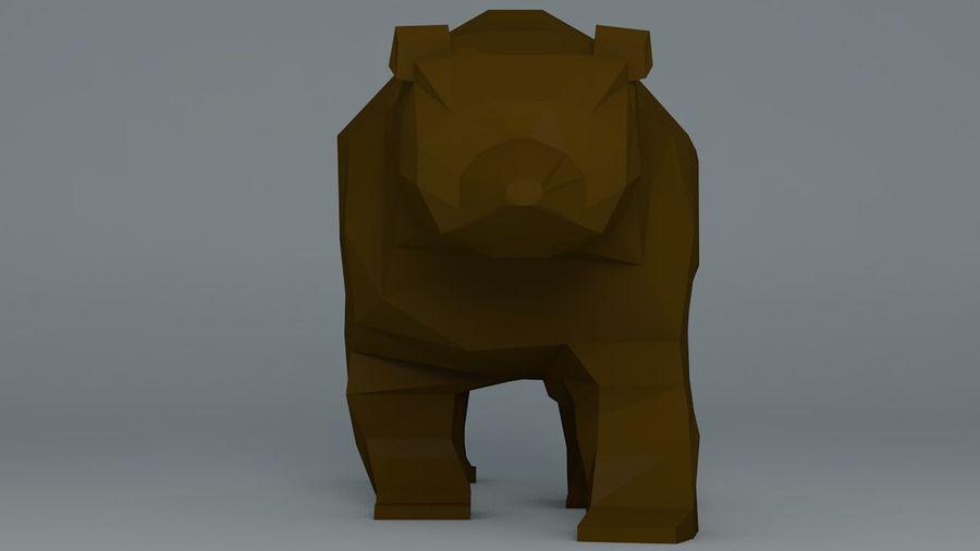 Niedźwiedź Grizzly Cartoon Low Poly royalty-free 3d model - Preview no. 2