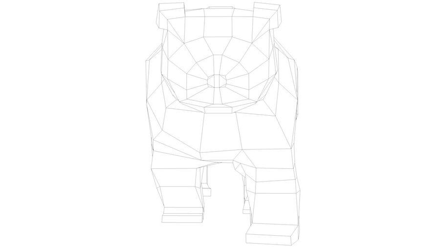 Niedźwiedź Grizzly Cartoon Low Poly royalty-free 3d model - Preview no. 7