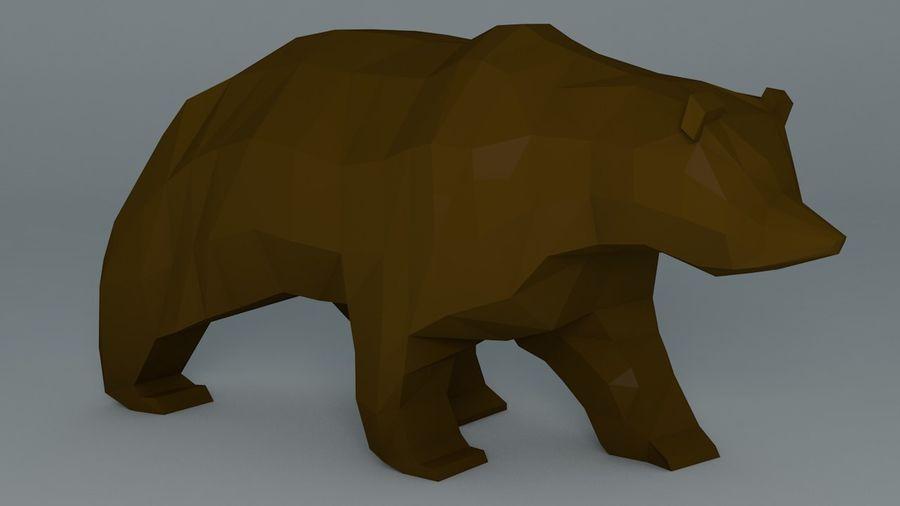 Niedźwiedź Grizzly Cartoon Low Poly royalty-free 3d model - Preview no. 1