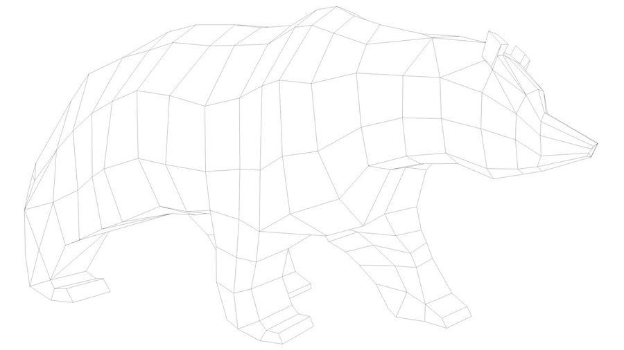Niedźwiedź Grizzly Cartoon Low Poly royalty-free 3d model - Preview no. 10