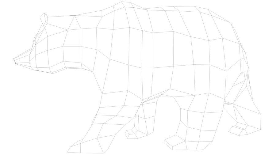Niedźwiedź Grizzly Cartoon Low Poly royalty-free 3d model - Preview no. 9