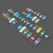 LowPoly Vehicles Pack 3d model