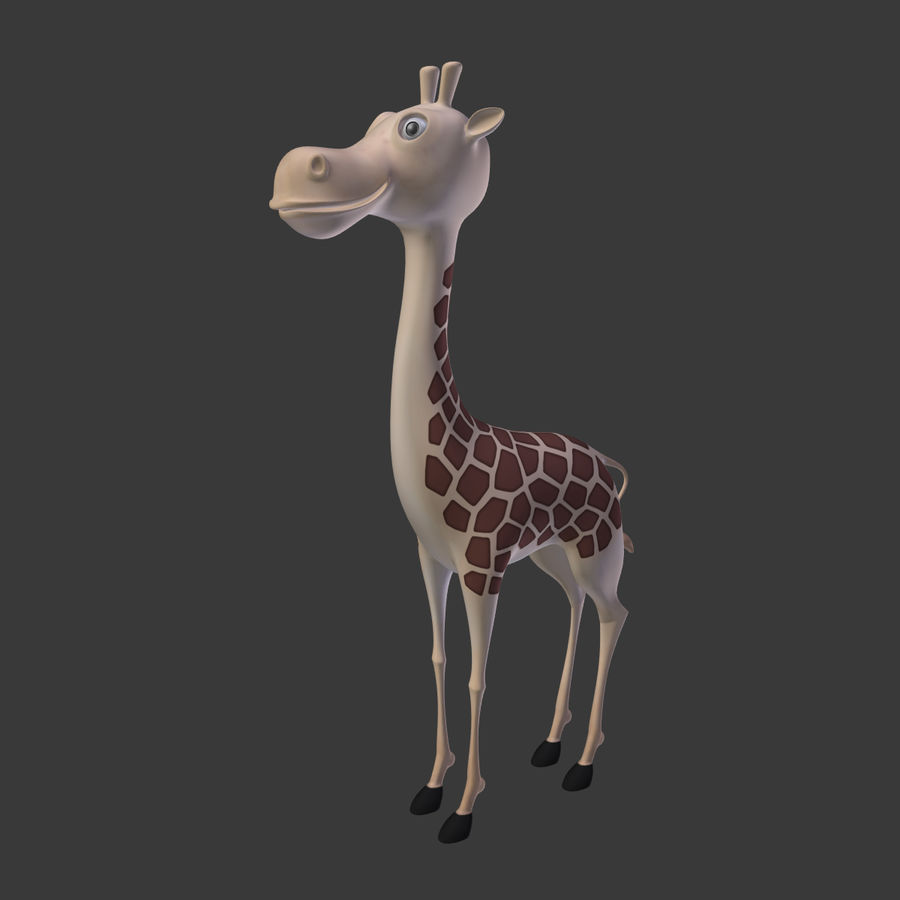 Toy Giraffe Cartoon royalty-free 3d model - Preview no. 2
