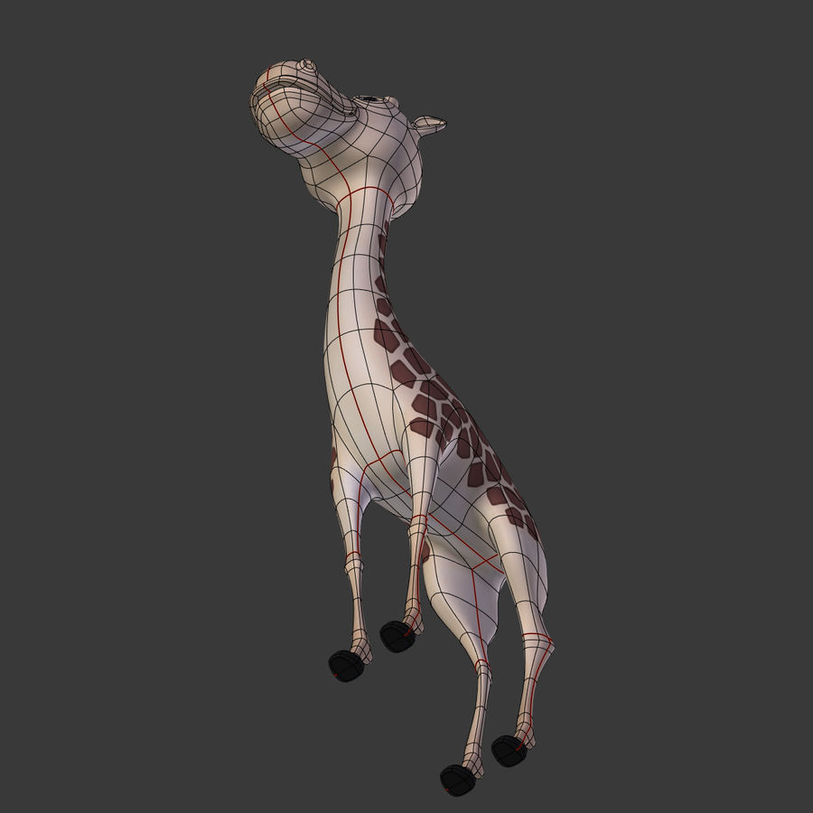 Toy Giraffe Cartoon royalty-free 3d model - Preview no. 13