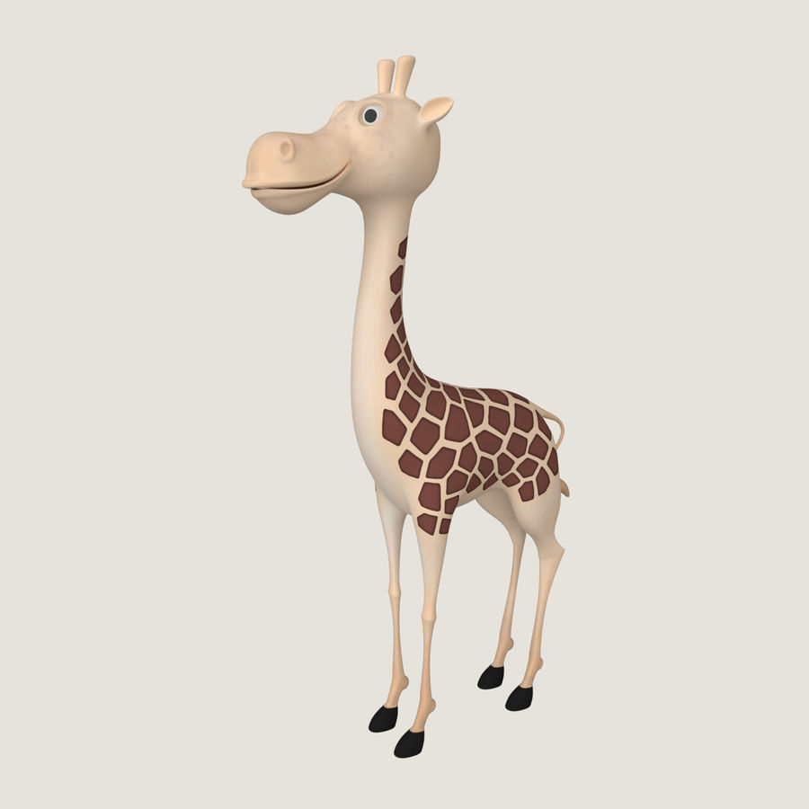 Toy Giraffe Cartoon royalty-free 3d model - Preview no. 1