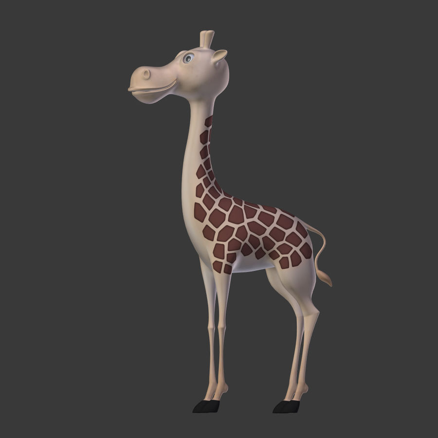 Toy Giraffe Cartoon royalty-free 3d model - Preview no. 18