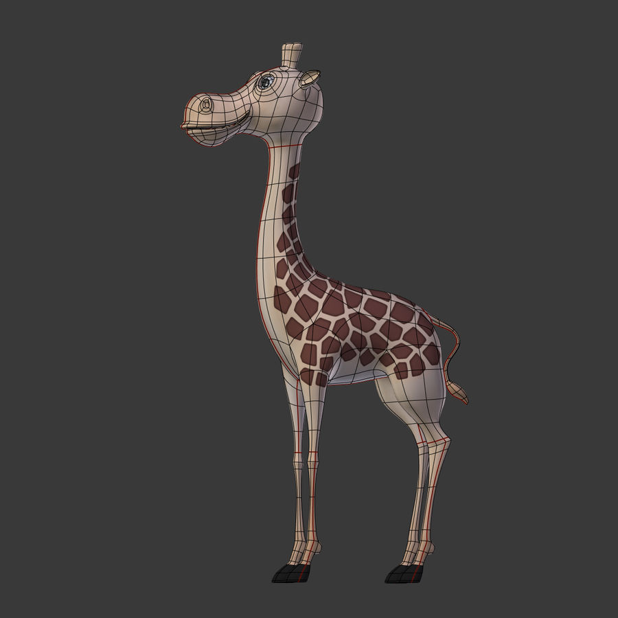Toy Giraffe Cartoon royalty-free 3d model - Preview no. 19