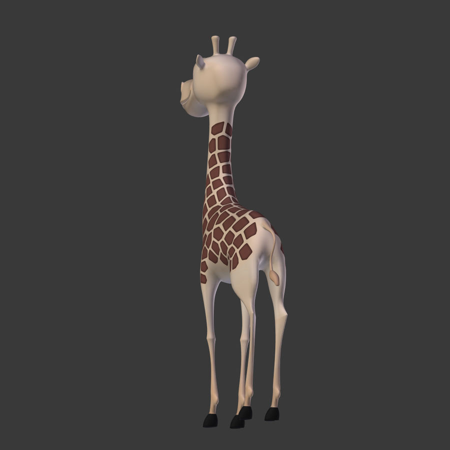 Toy Giraffe Cartoon royalty-free 3d model - Preview no. 7