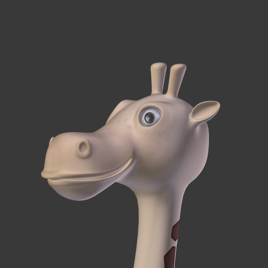 Toy Giraffe Cartoon royalty-free 3d model - Preview no. 14