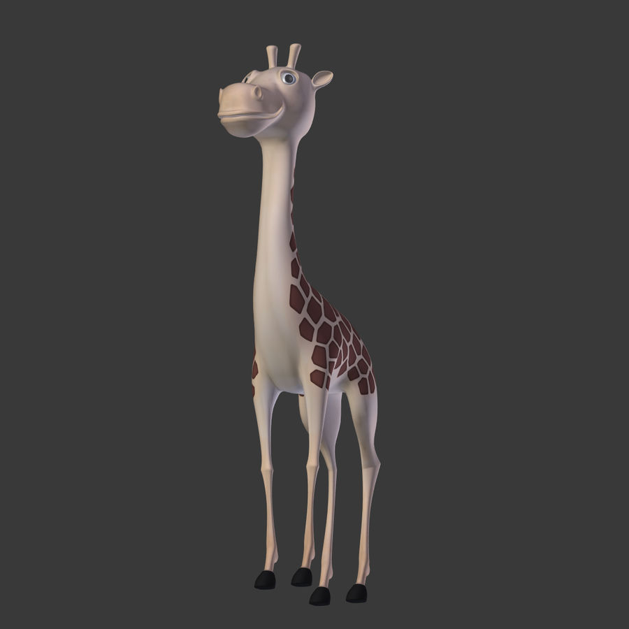 Toy Giraffe Cartoon royalty-free 3d model - Preview no. 5
