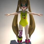 anime kız 1 3d model