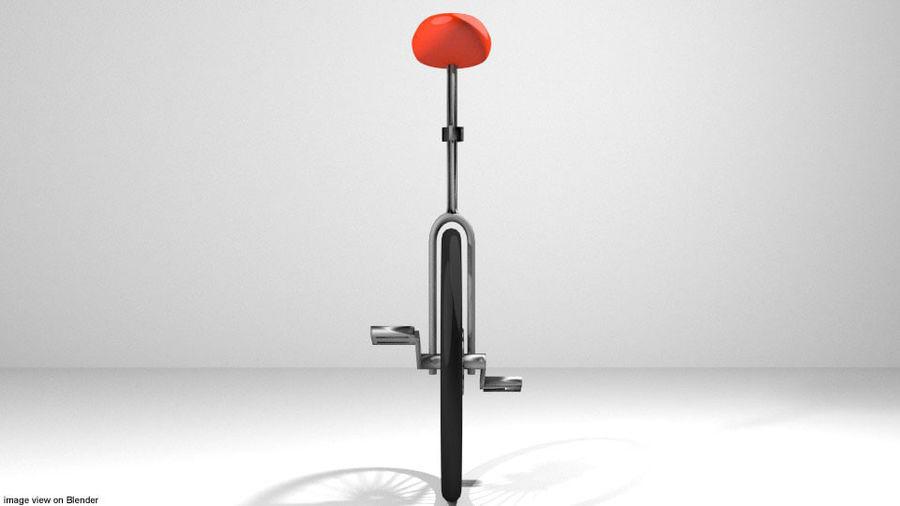 自転車-ユニサイクル royalty-free 3d model - Preview no. 3