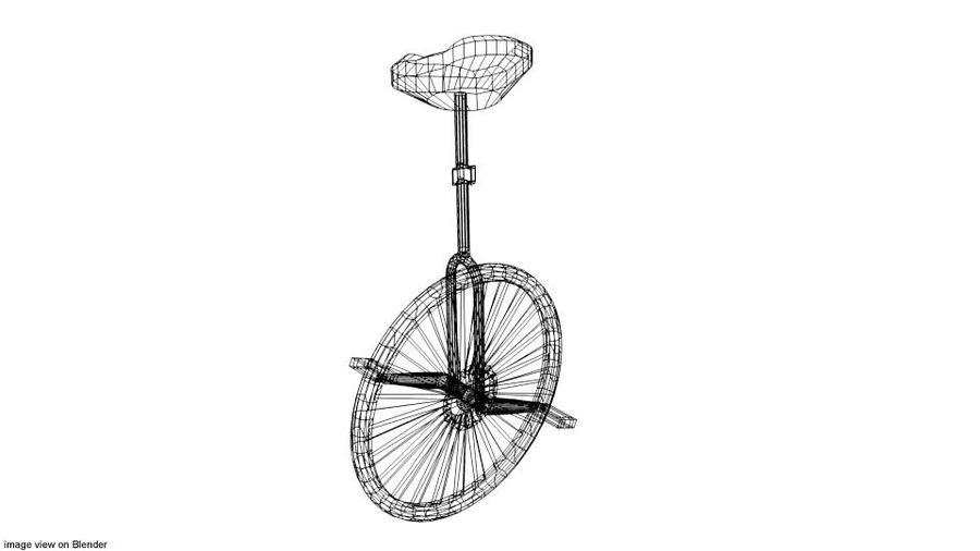 自転車-ユニサイクル royalty-free 3d model - Preview no. 4